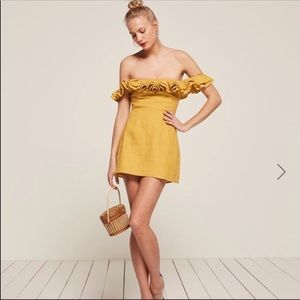 NWT Reformation Coral Dress Sunflower Yellow Sz. 2